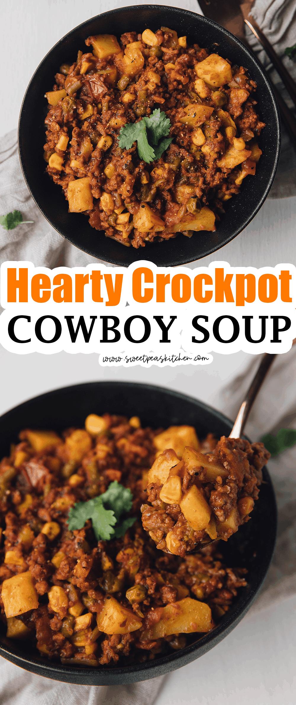 Hearty Crockpot Cowboy Soup