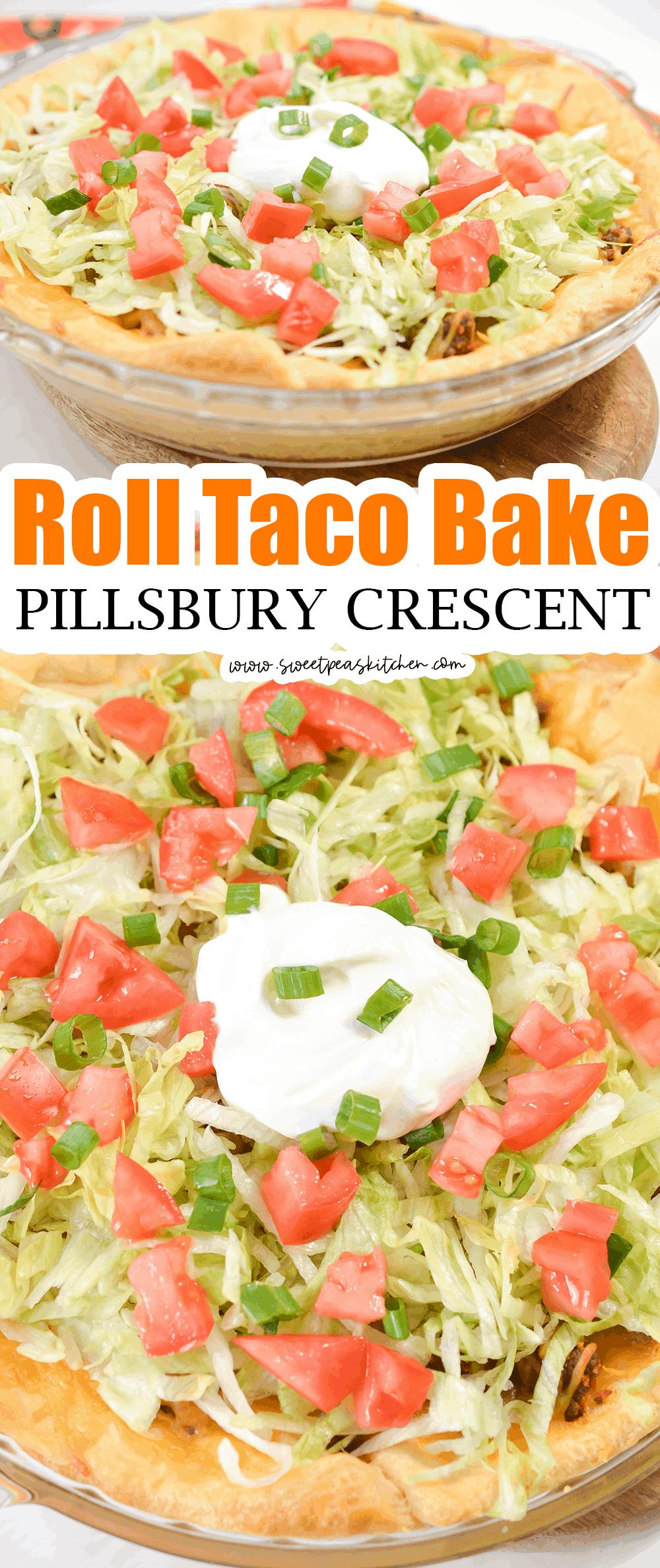 Pillsbury Crescent Roll Taco Bake