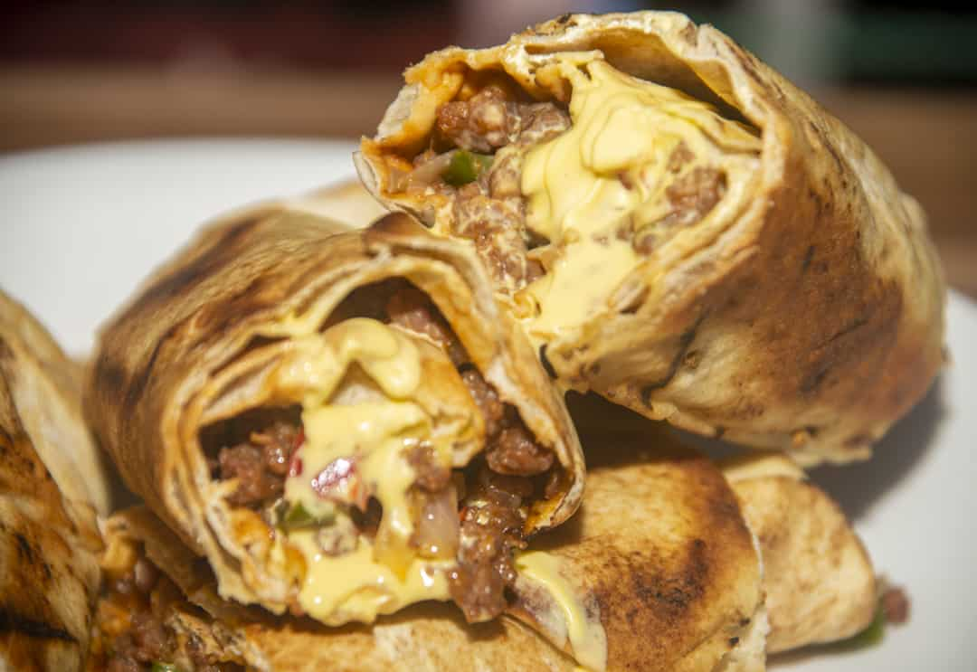 Sloppy Joe Grilled Burritos