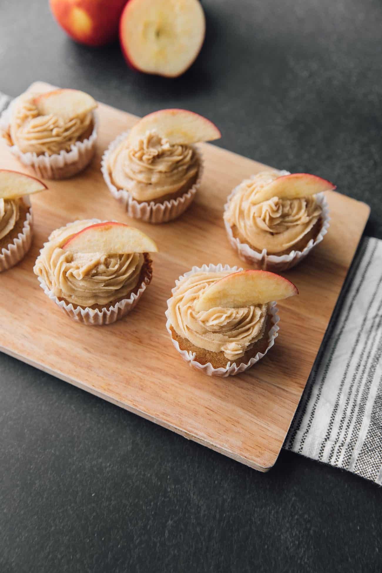 Apple Cider Cupcakes with Brown Sugar Cinnamon Butter Cream