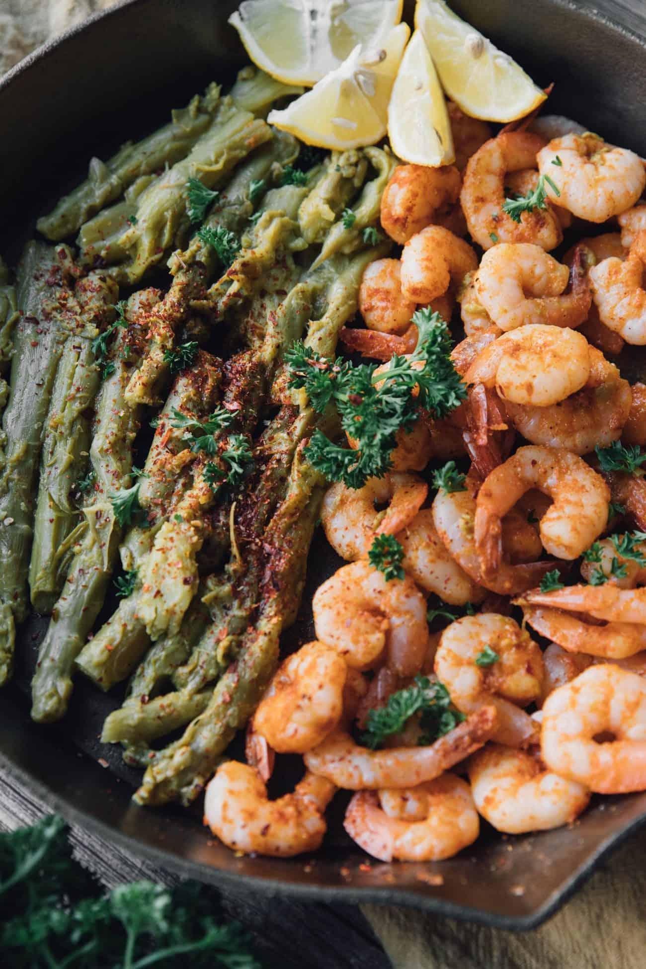 Blackened Shrimp and Asparagus