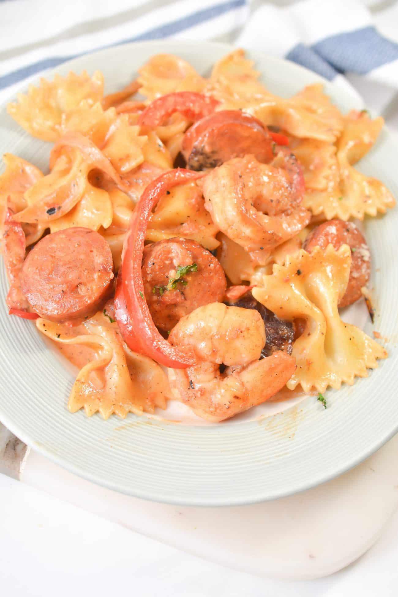 Cajun Shrimp Pasta with Sausage