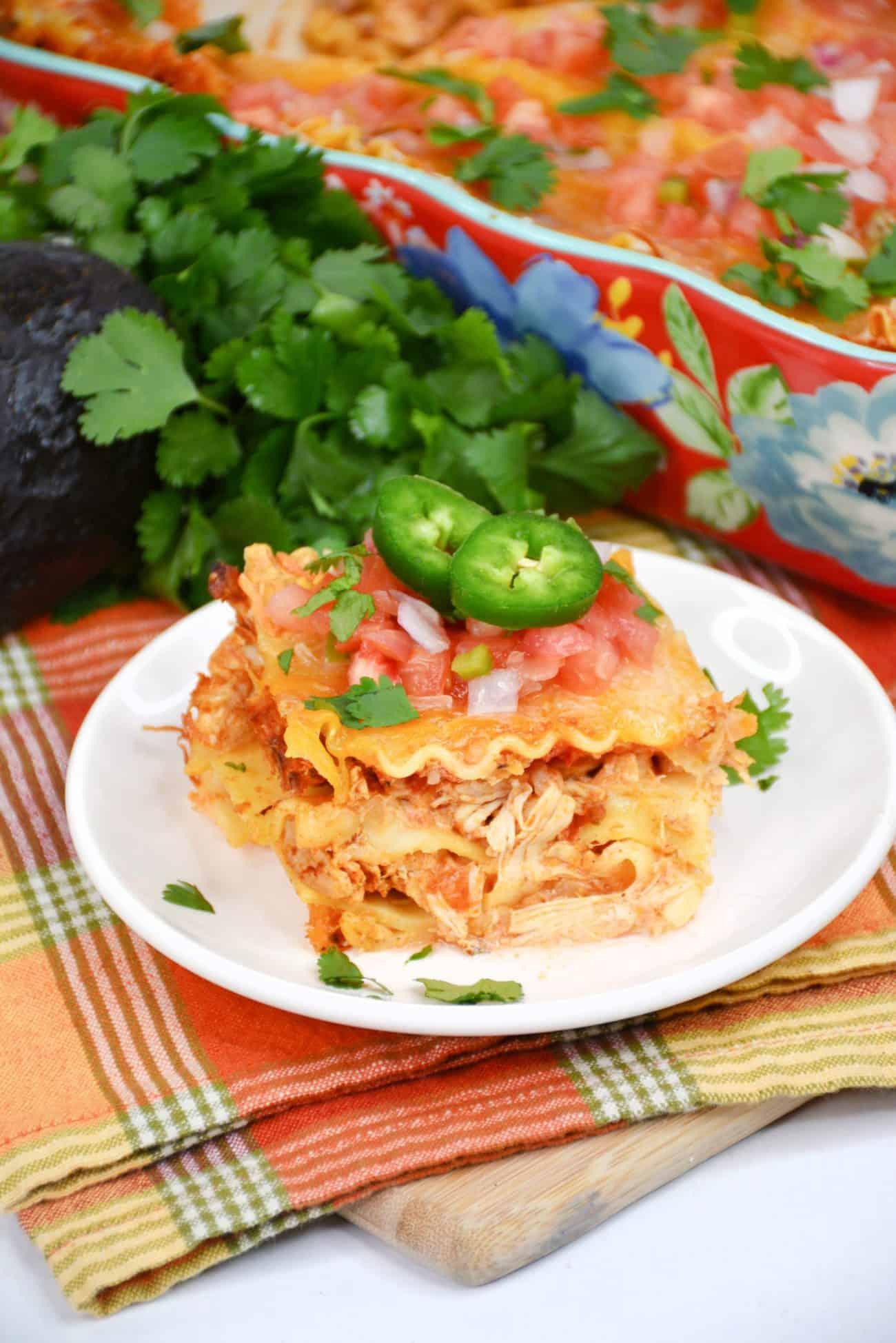 Chicken Taco Lasagna