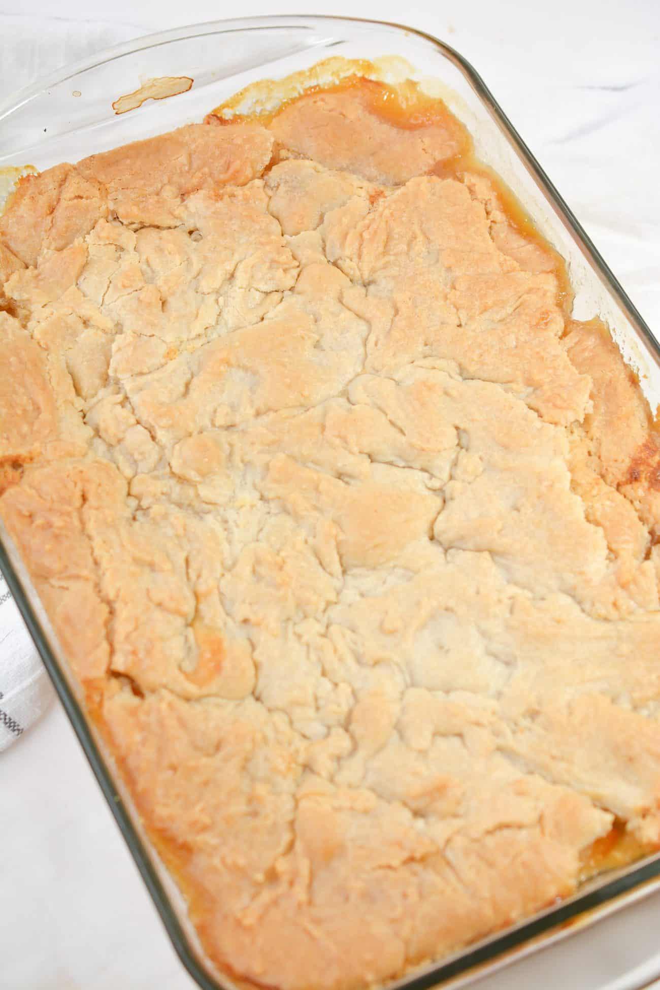 Cookie Crusted Peach Cobbler