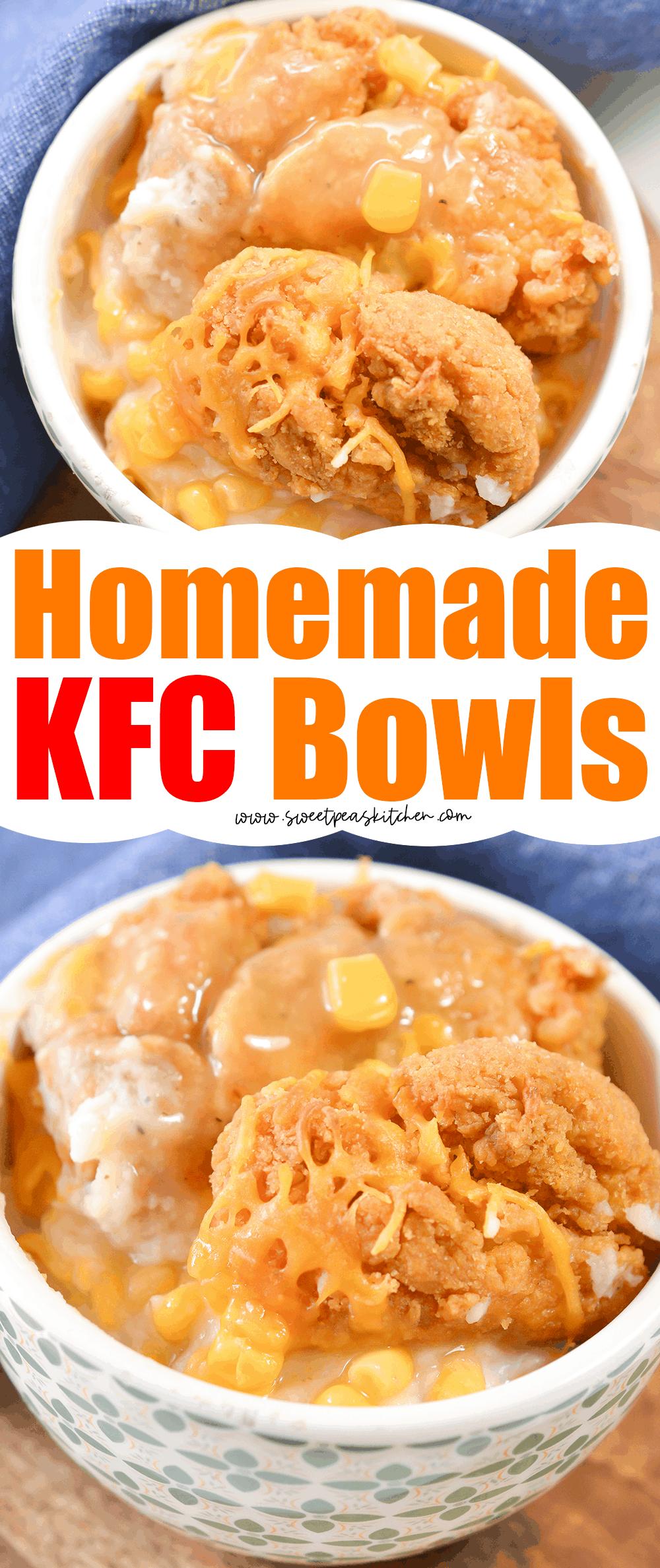 Homemade KFC Bowls