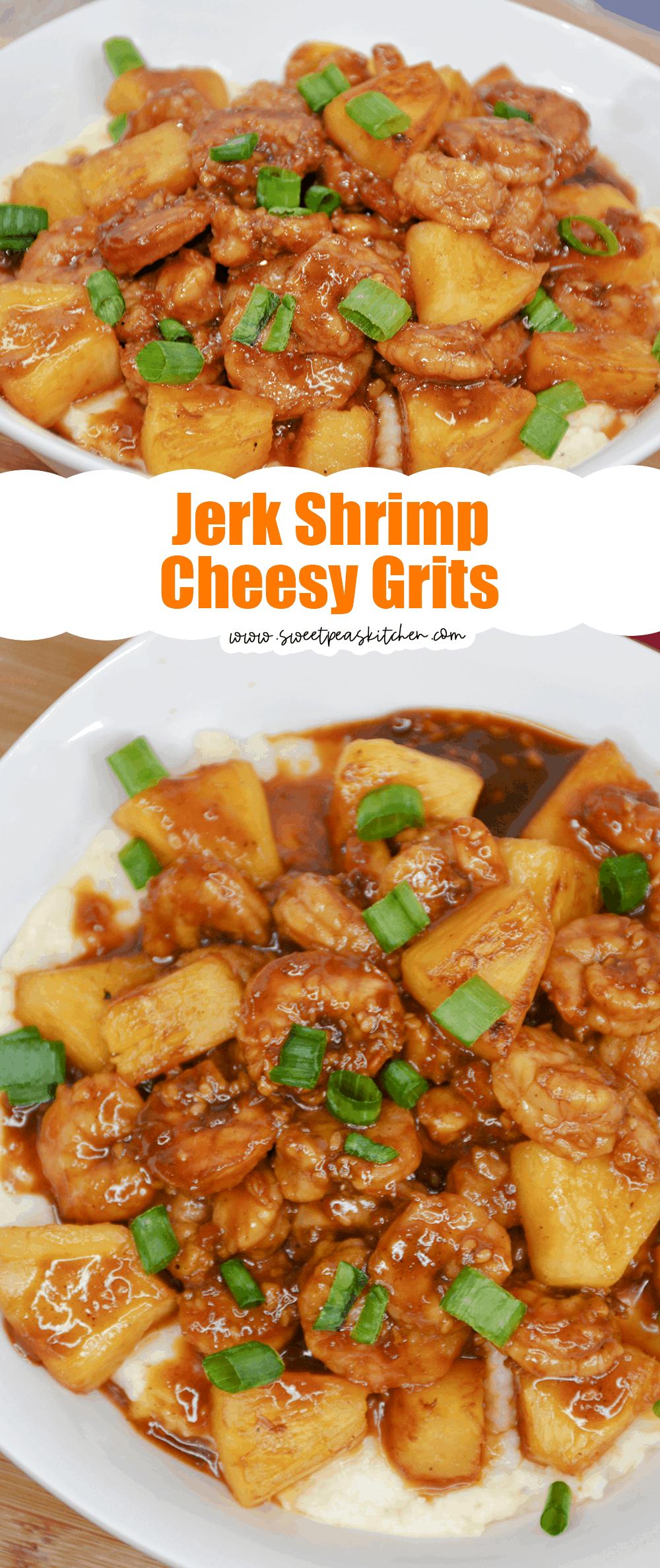 Jerk Shrimp and Cheesy Grits