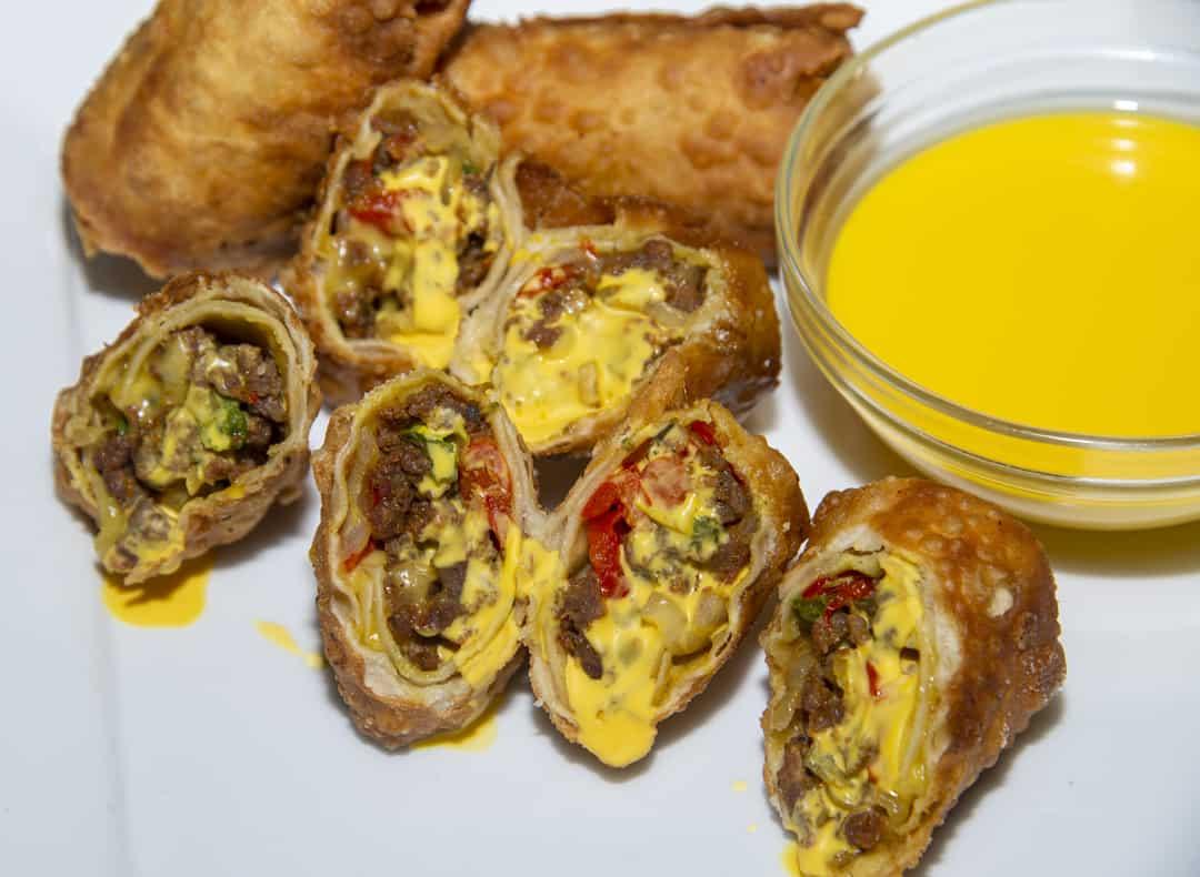 Nacho Egg Rolls