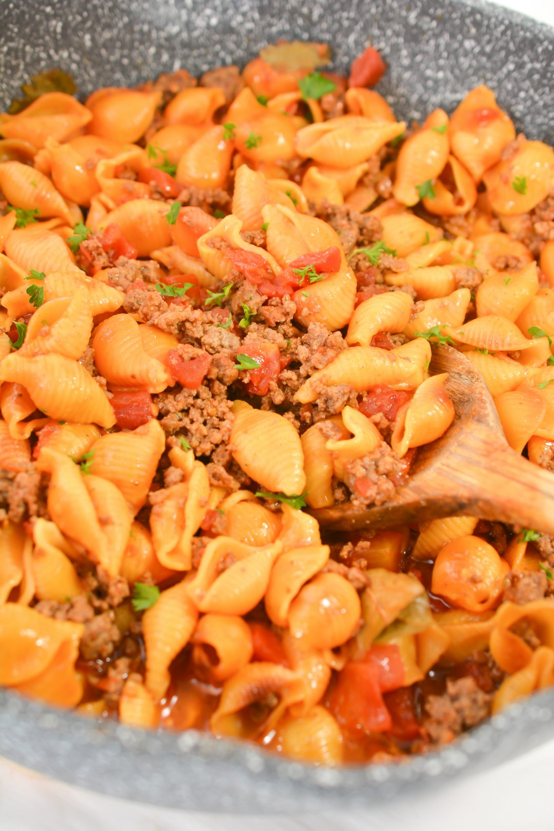 Pasta Shells with Ground Beef