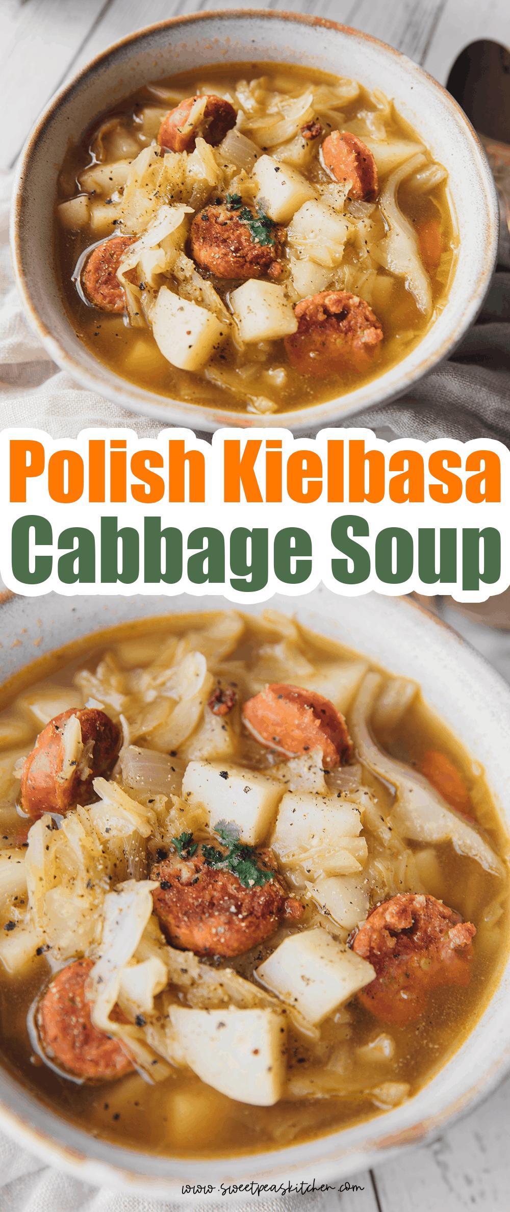 Polish Kielbasa and Cabbage Soup