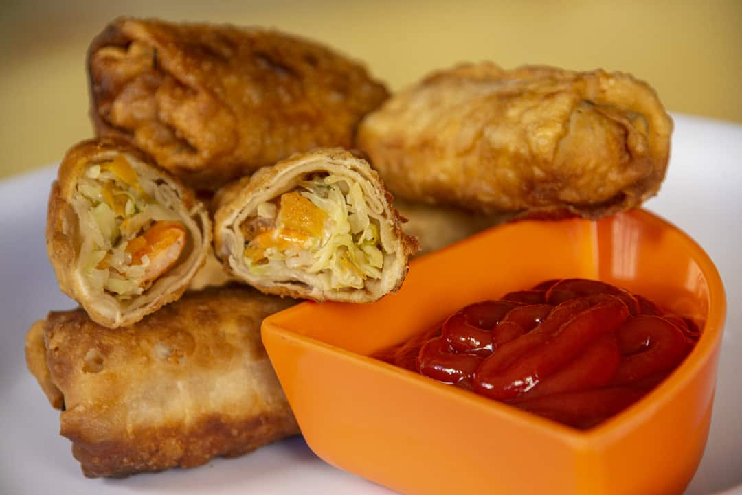 Shrimp and Cabbage Egg Rolls