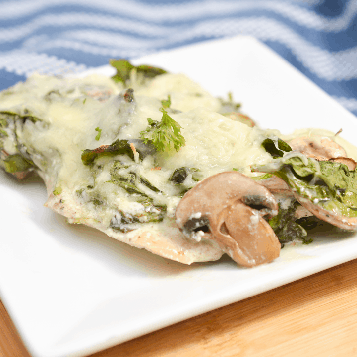 Spinach Chicken and Mushroom