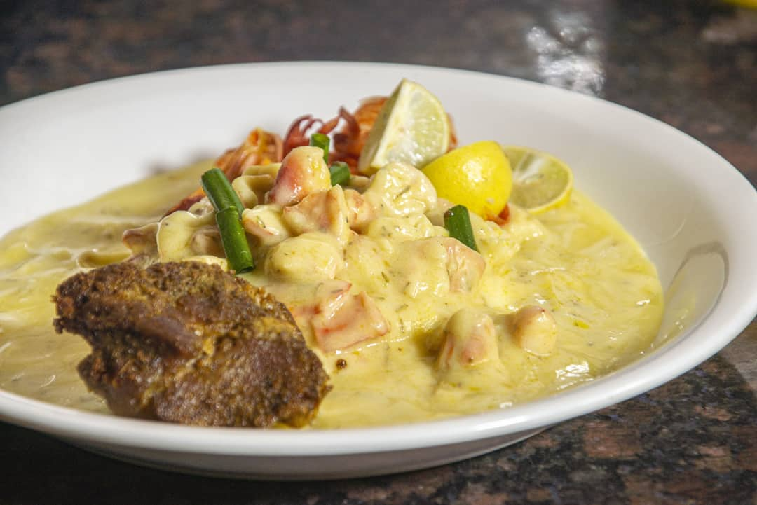 Steak and Lobster with Sweet Italian Cream Sauce