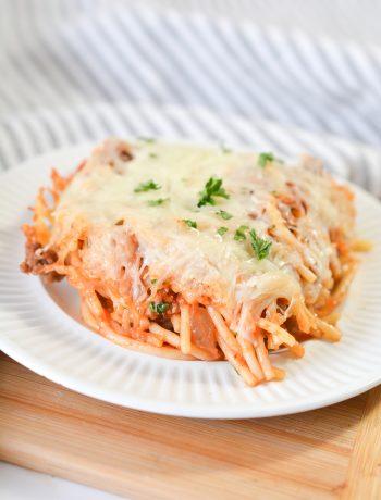 How To Make Baked Spaghetti - Easy Recipe