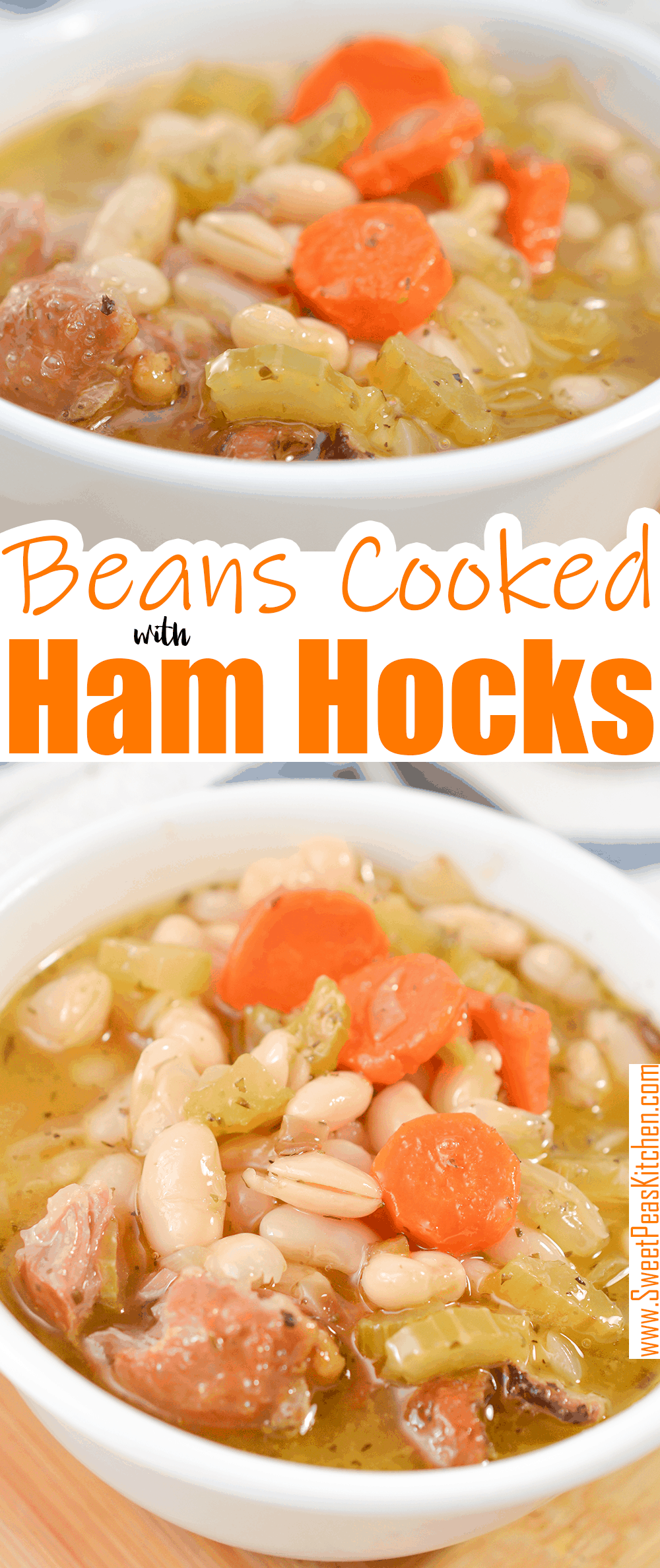 Beans Cooked with Ham Hocks