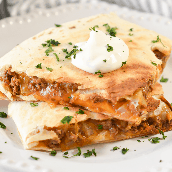 Beef and Cheese Quesadilla