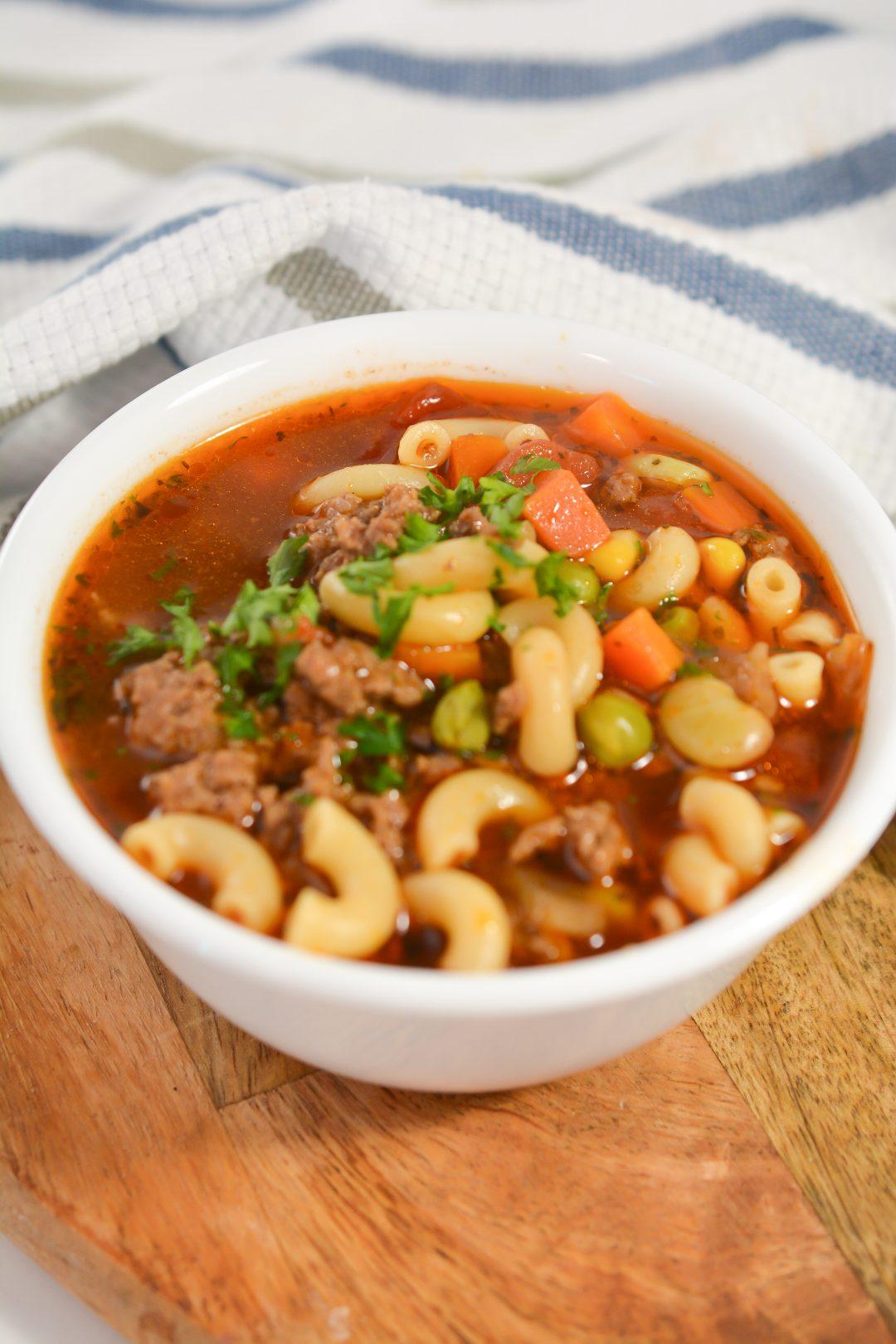 Beef and Macaroni Soup