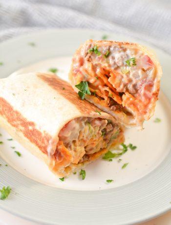 Beefy Nacho Cheese Wrap