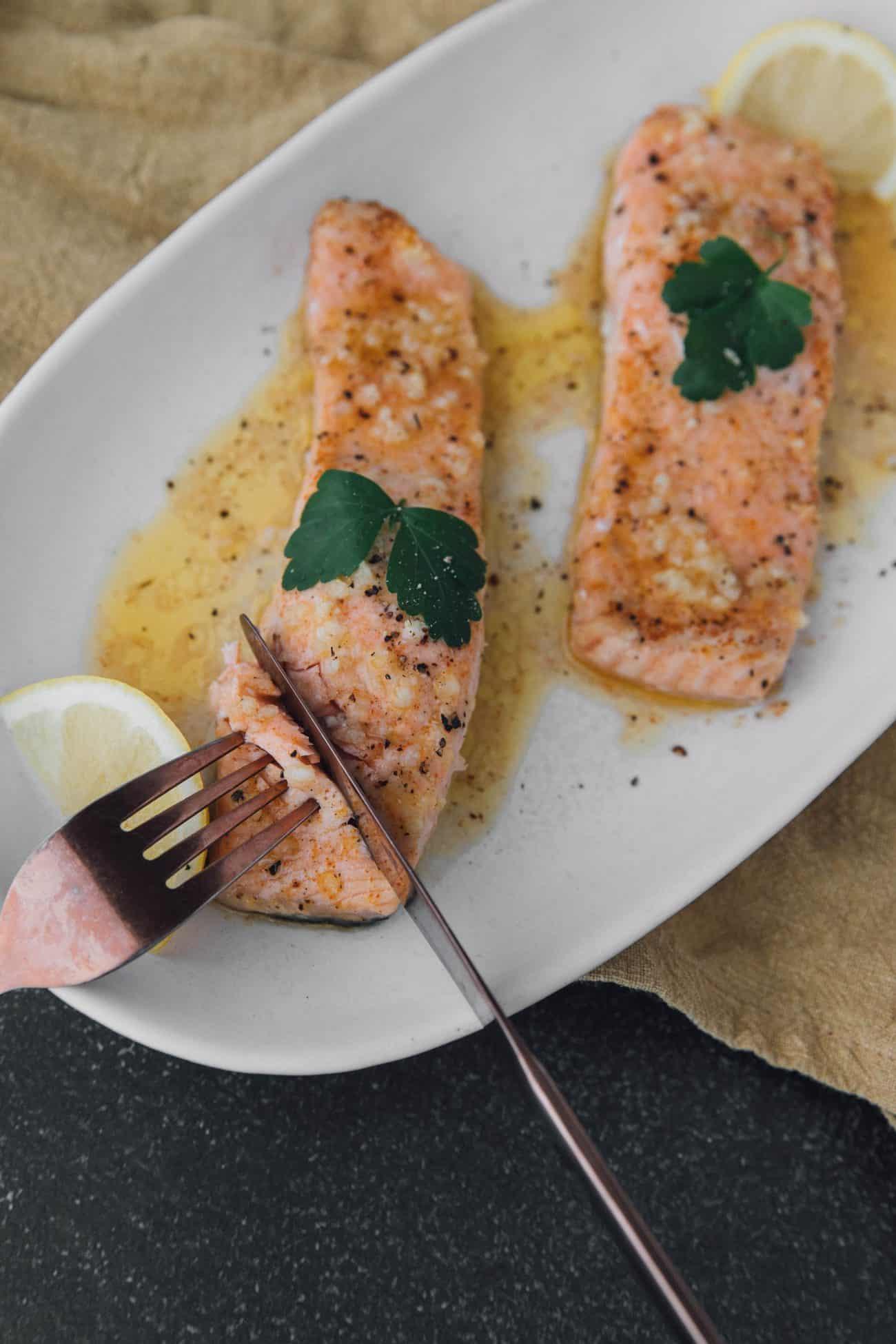 Cajun Garlic Baked Salmon