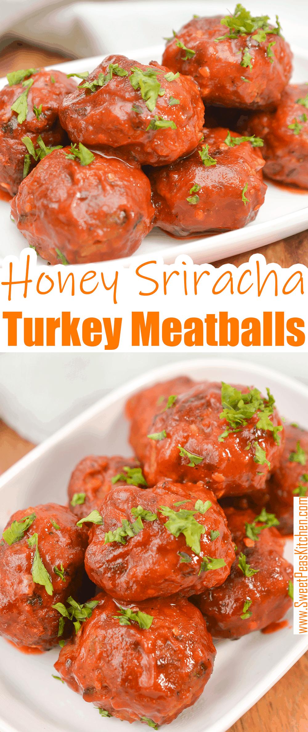Honey Sriracha Turkey Meatballs