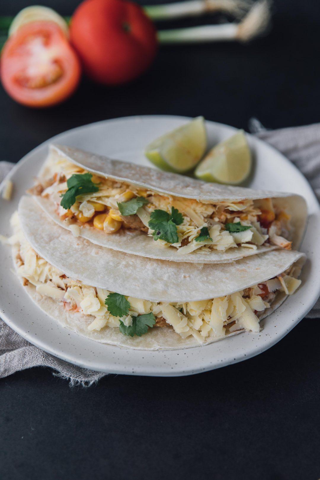 Mexican Street Corn Chicken Tacos