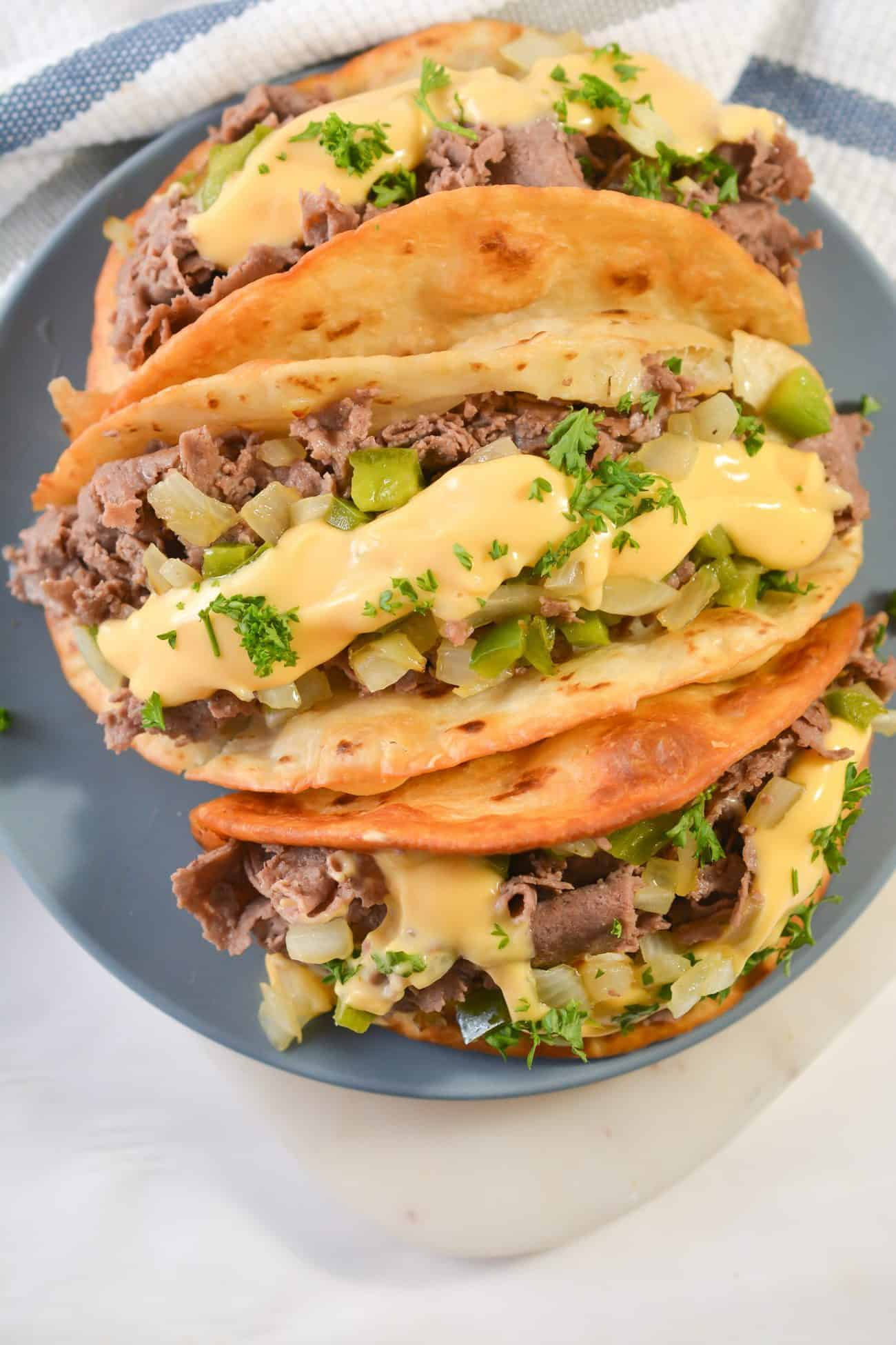 Philly Cheesesteak Tacos
