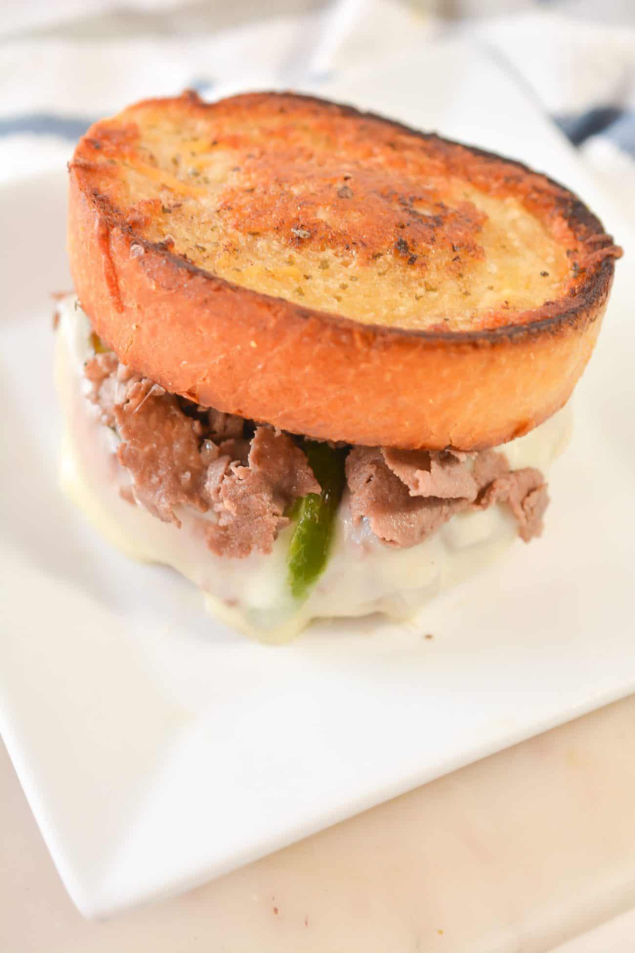 Steak and Cheese Garlic Toast