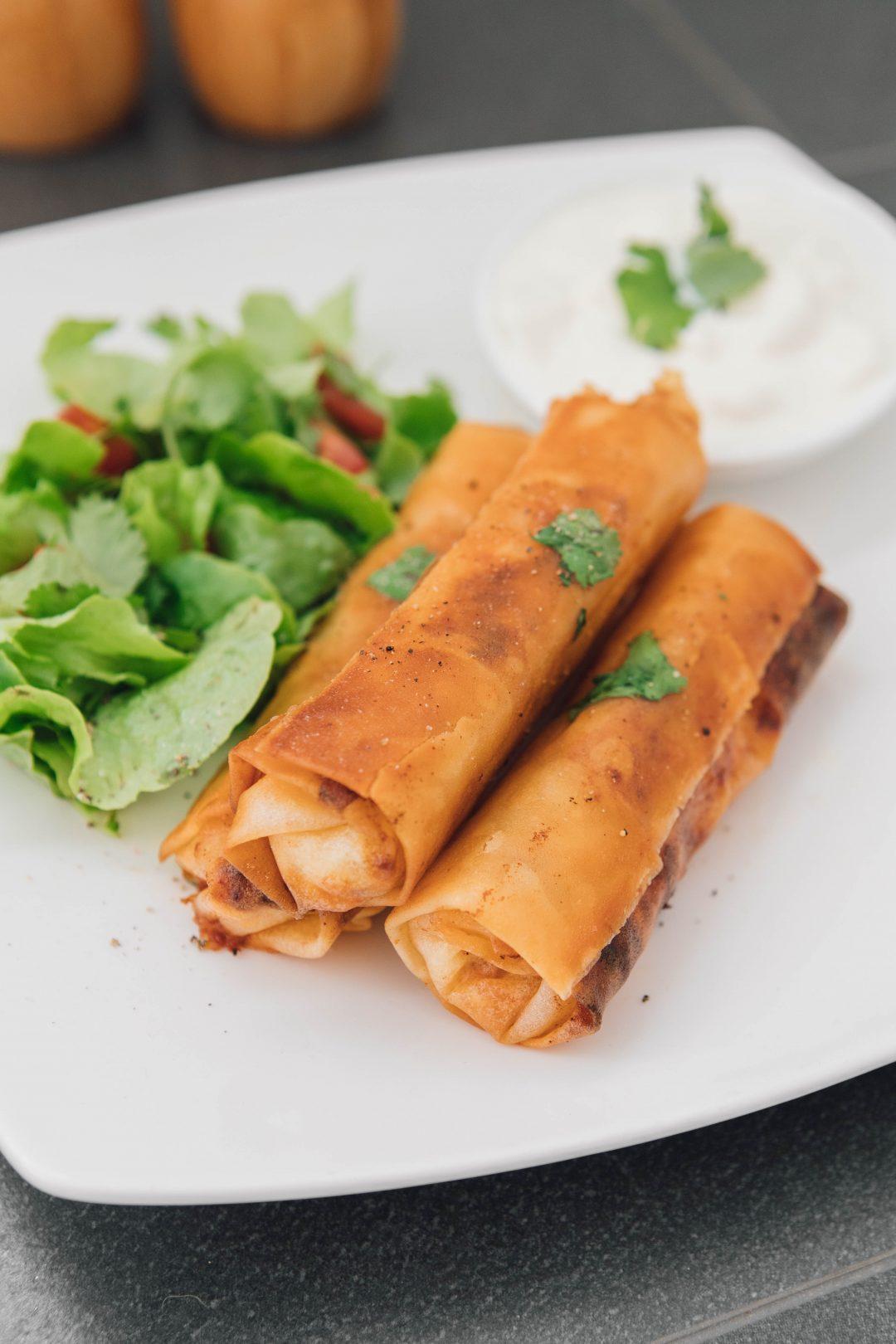 Cheesesteak Egg Roll Taco