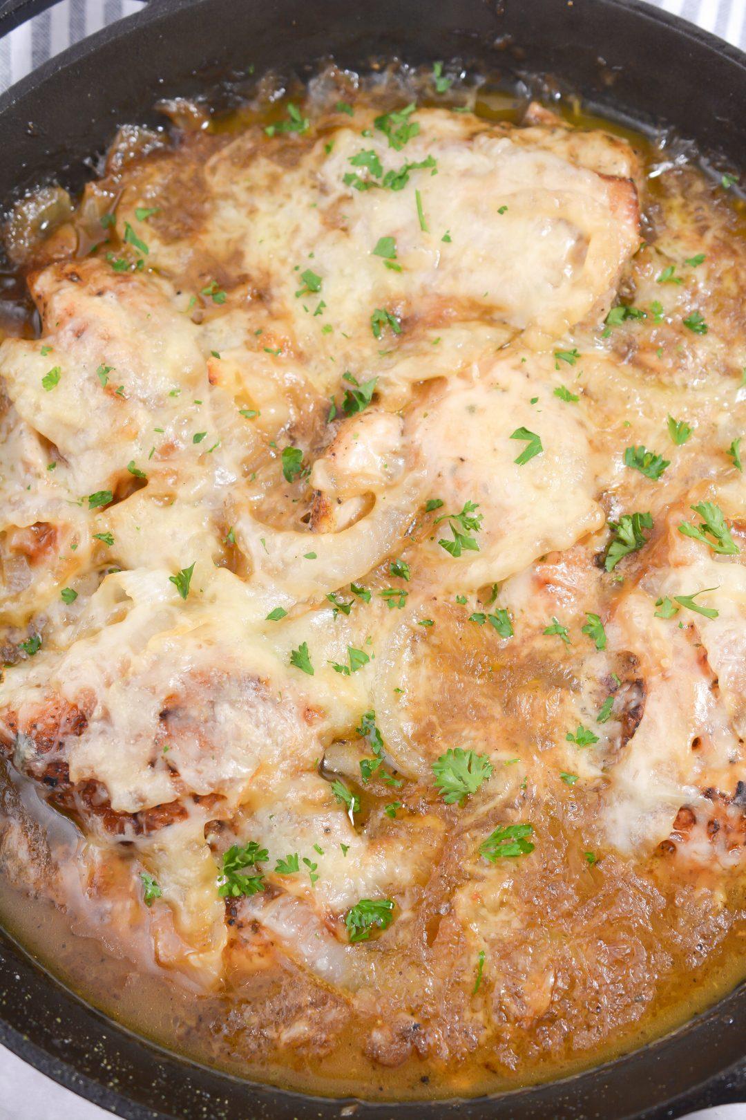 French Onion Skillet Chicken