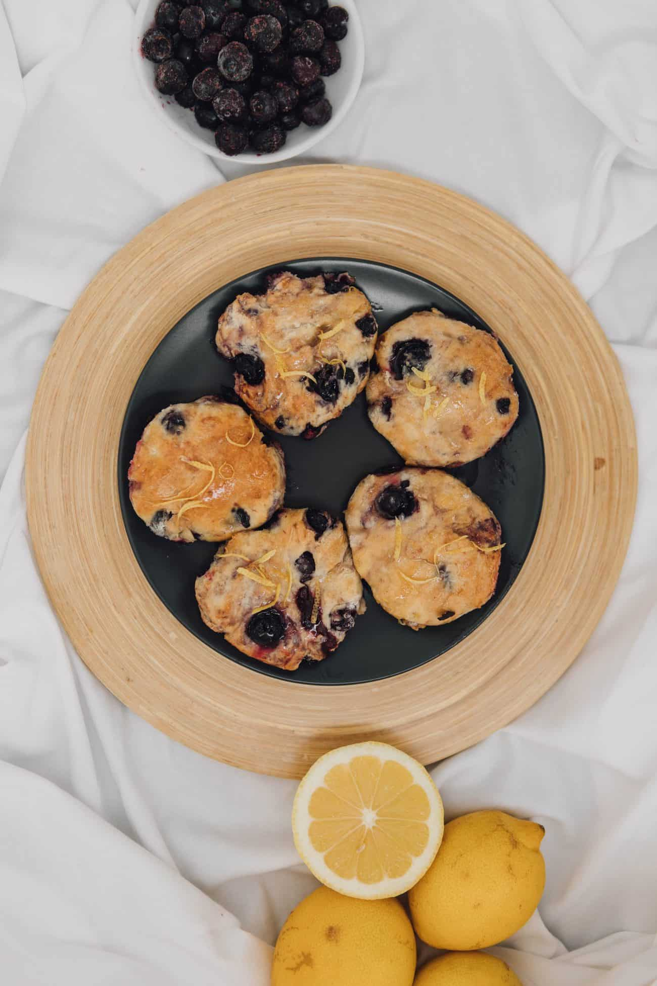 Grandma's Blueberry Glazed Biscuits