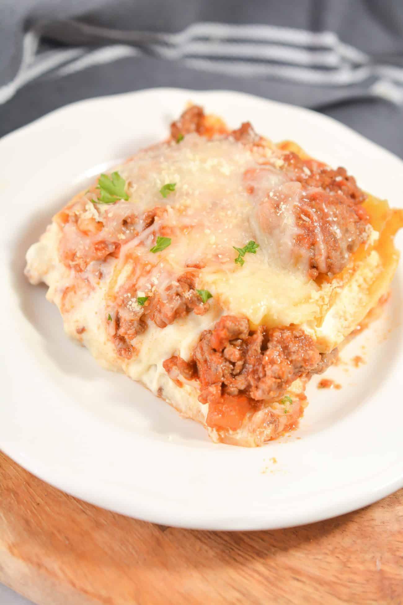 Three Cheese Beef Lasagna