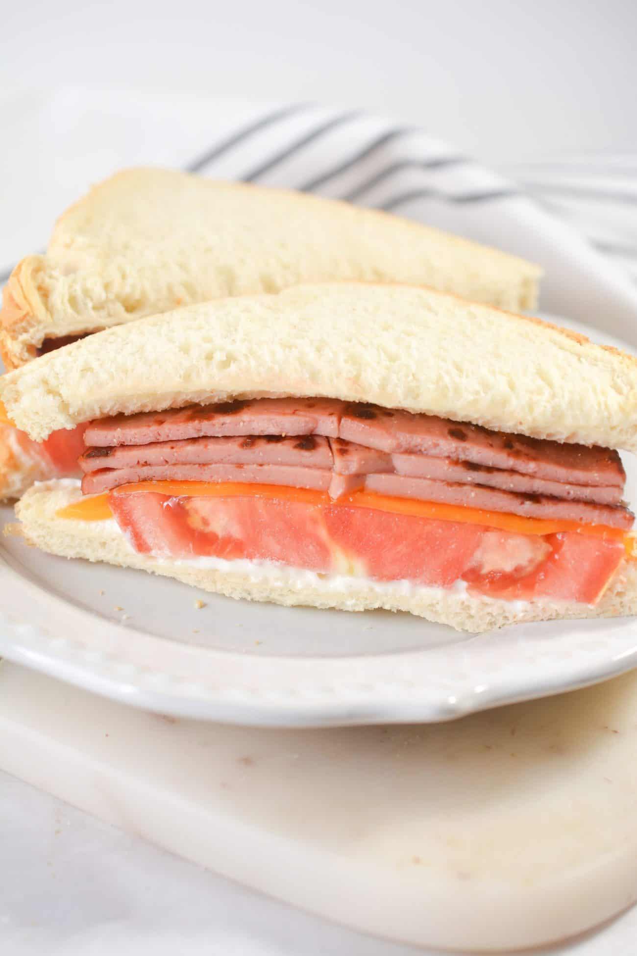 Fried Bologna Sandwiches