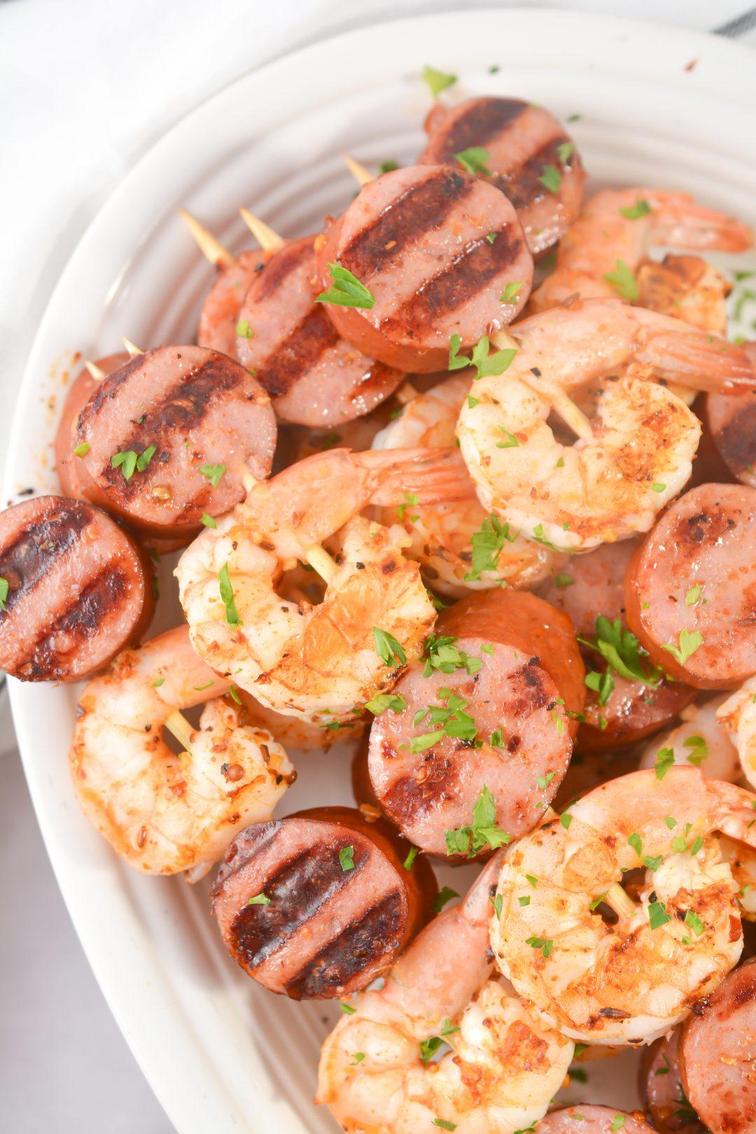 Sausage and Shrimp Kebabs