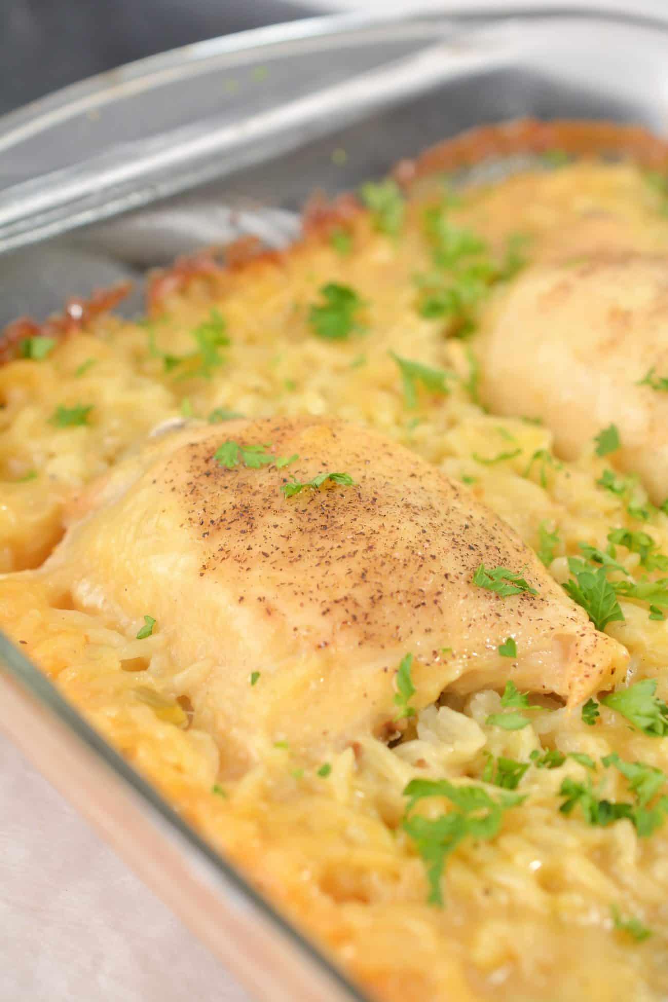 Easy No-Peek Chicken and Rice Casserole