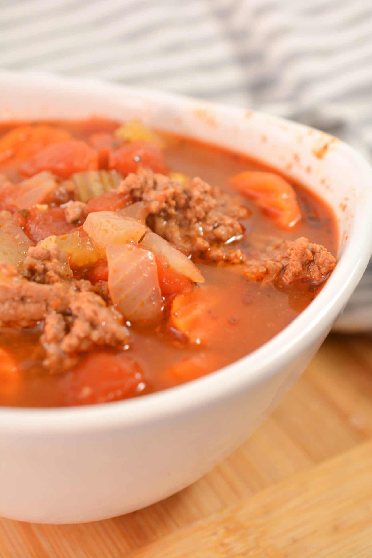 Easy Hamburger Soup Recipe