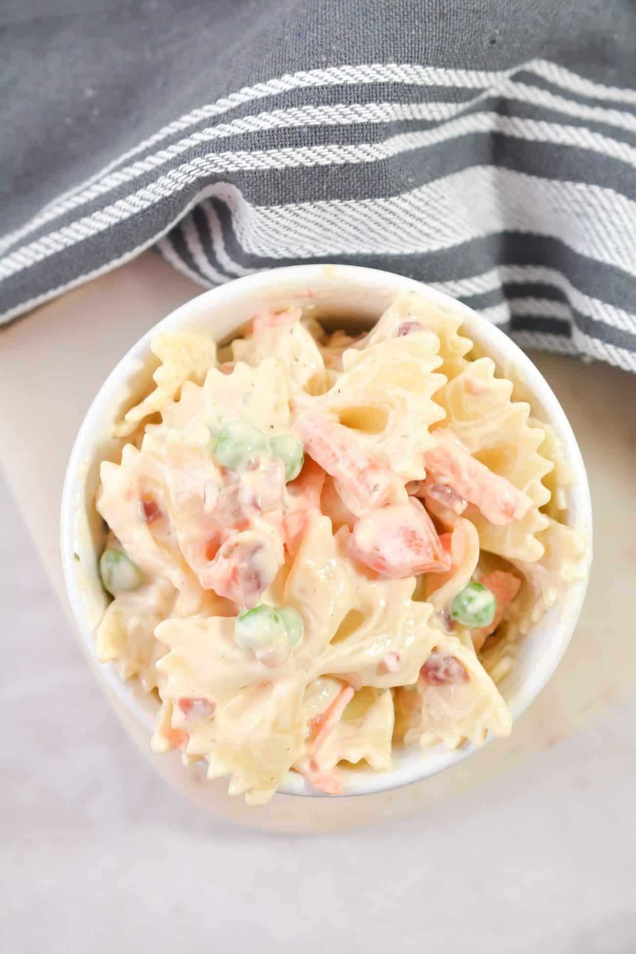 Homemade Bacon Ranch Pasta Salad