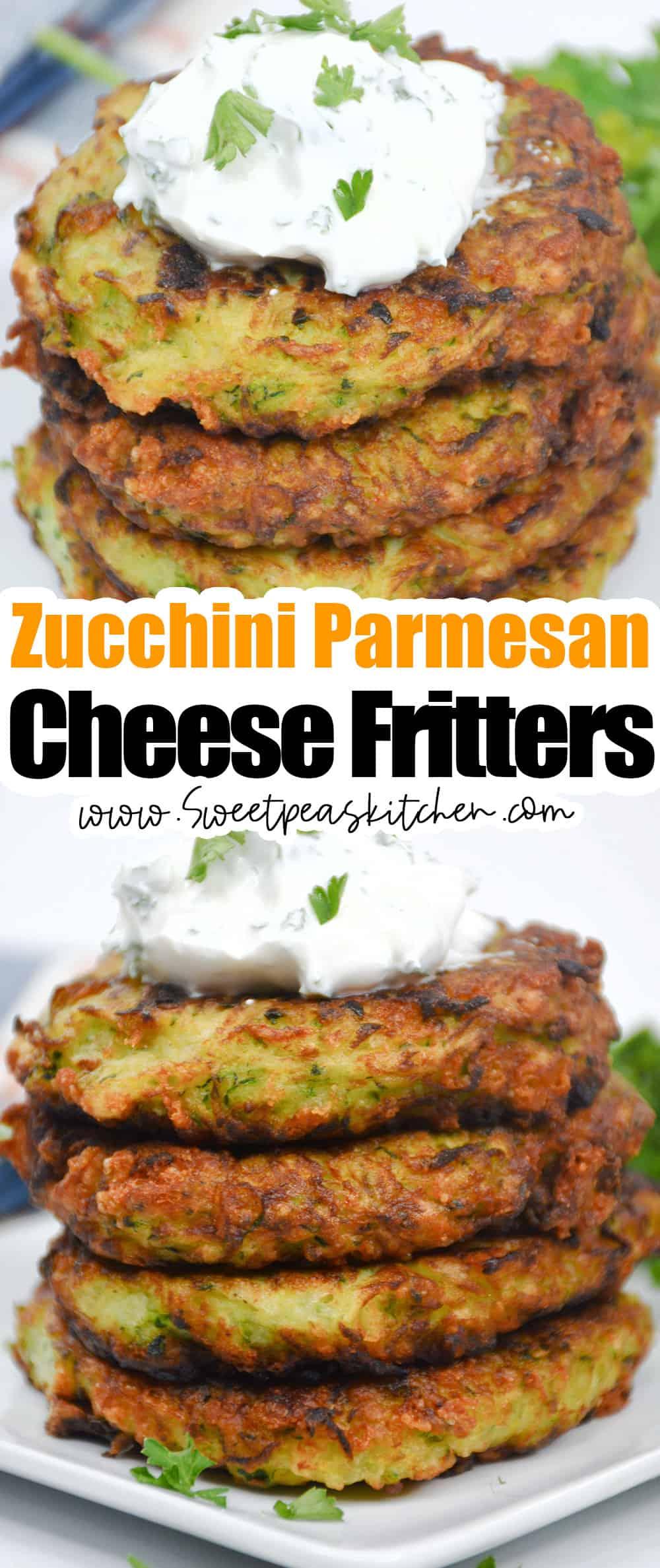 Zucchini Parmesan Cheese Fritters